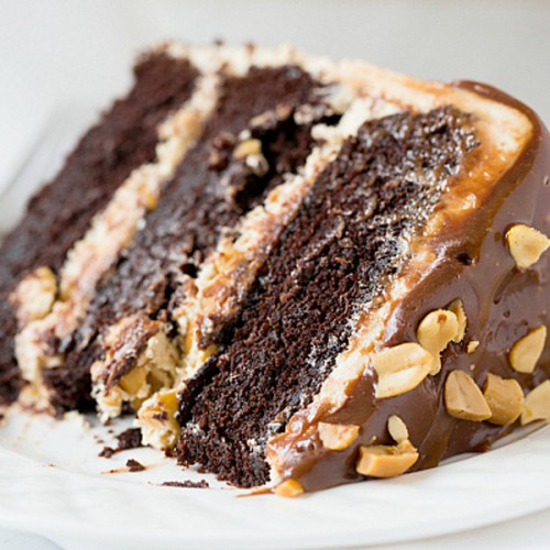 Snickers Almond Cake